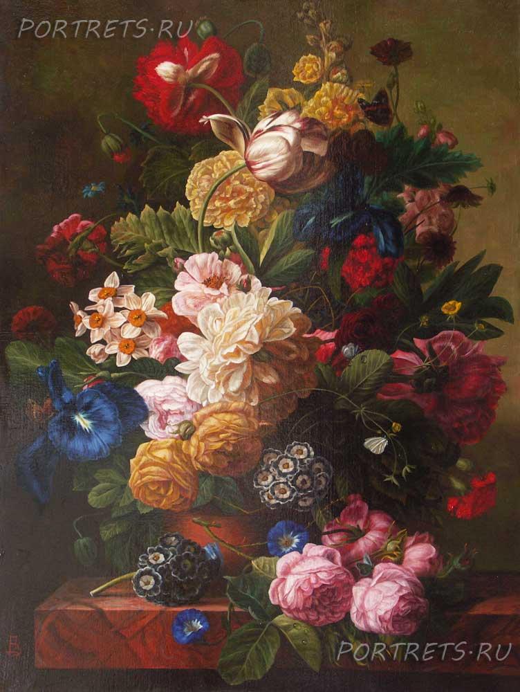 Картины цветов маслом на холсте известных художников